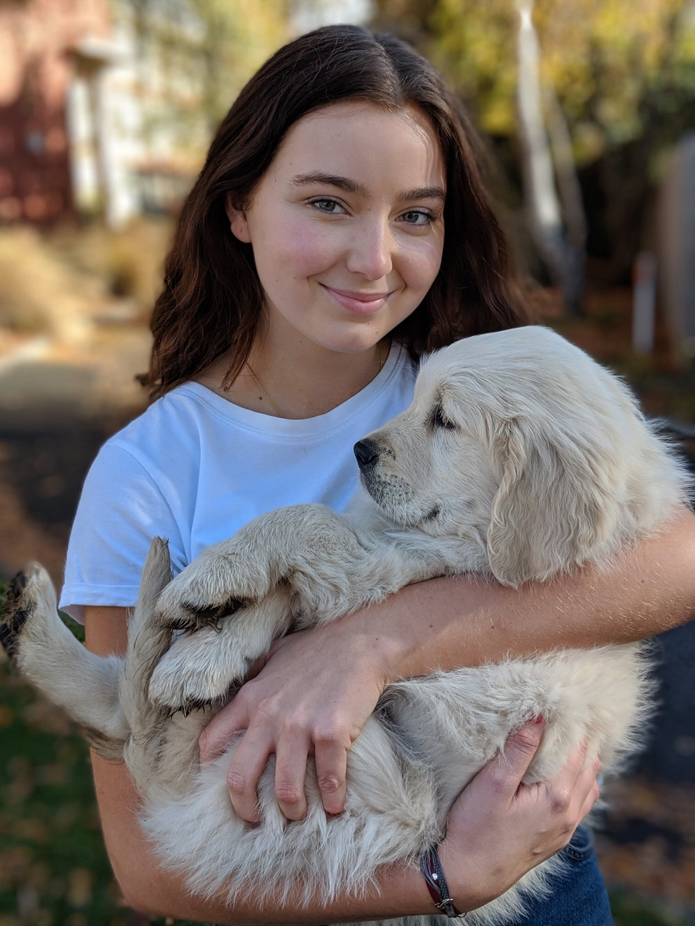 Isabella Waters with dog
